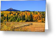 Fire On The Mountain Greeting Card by Dana Kern