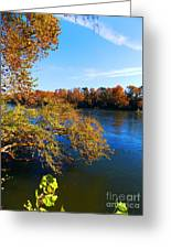 Fire On The River Greeting Card