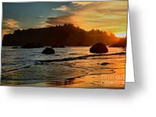 Fire Over Trinidad Beach Greeting Card