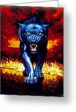 Fire Panther Greeting Card