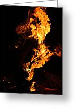 Fire Greeting Card by Pedro Correa