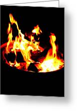 Fire Pit Greeting Card
