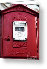 Fire Pull Greeting Card by John Rizzuto