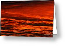 Fire Reds Sunset Greeting Card by Rebecca Christine Cardenas