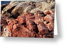 Fire Rocks In The Valley Greeting Card