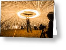 Fire Spinner Greeting Card