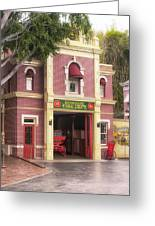 Fire Station Main Street Disneyland 02 Greeting Card