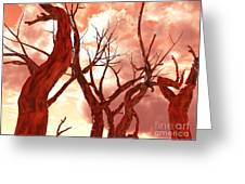 Fire Trees Greeting Card