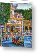 Fire Truck Main Street Disneyland Photo Art 02 Greeting Card