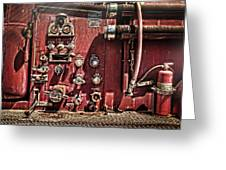 Fire Truck Valves Greeting Card