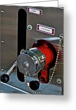 Fire Truck Water Intake Greeting Card