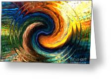 Fire Water Greeting Card by Anthony Morris