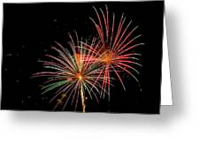 Fire Works In Sky Greeting Card