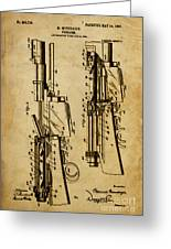 Firearm - Patented On 1907 Greeting Card