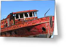 Fireboat Greeting Card