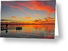 Firecracker Sunset Greeting Card