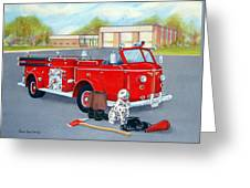 Firefighter - Still Life Greeting Card