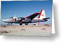 Firefighting Airtanker N4235n Greeting Card