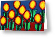 Fireflowers Greeting Card