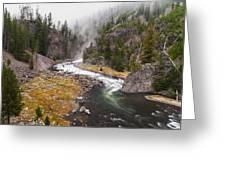 Firehole Canyon - Yellowstone Greeting Card