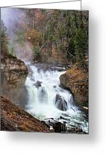 Firehole River Falls Greeting Card