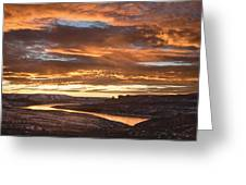 Firehole Sunset Greeting Card