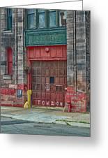 Firehouse Door Greeting Card