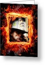 Fireman Hero Greeting Card