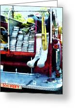 Fireman - Hoses On Fire Truck Greeting Card