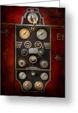 Fireman - Keep An Eye On The Pressure  Greeting Card by Mike Savad