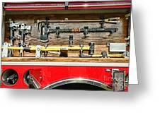 Fireman - Life Saving Tools Greeting Card