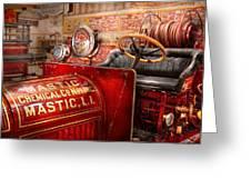 Fireman - Mastic Chemical Co Greeting Card