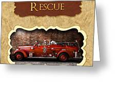 Fireman - Rescue - Police Greeting Card by Mike Savad
