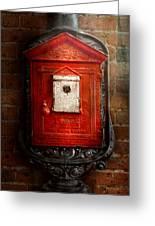 Fireman - The Fire Box Greeting Card