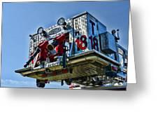 Fireman - The Fireman's Ladder Greeting Card