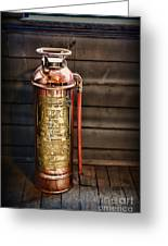 Fireman - Vintage Fire Extinguisher Greeting Card