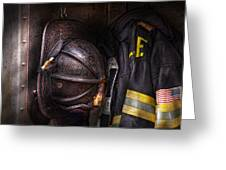Fireman - Worn And Used Greeting Card