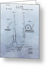 Fireman's Tool Patent Greeting Card