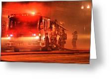 Firemen At Work Greeting Card