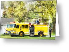 Firemen - Back At The Firehouse Greeting Card