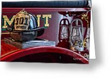 Firemen - Fire Helmet Lieutenant Greeting Card