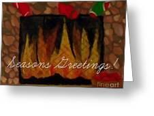 Fireplace - Seasons Greetings Greeting Card