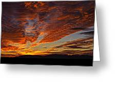 Firery Desert Skies  Greeting Card