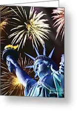 Fires Of Liberty Greeting Card