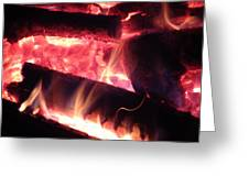 Fireside - Close-up Greeting Card