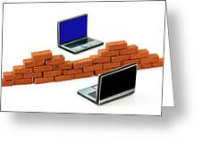 Firewall Protection For Laptops Greeting Card