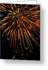 Firework Indian Headdress Greeting Card