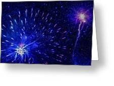 Fireworks At Night 1 Greeting Card