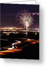 Fireworks At Sugarhouse Park Greeting Card