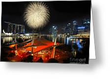 Fireworks By The Bay Greeting Card